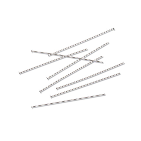 Head Pins - Nickel Plated Brass - 2 inches - 36 pieces