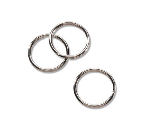 9 mm Silver Split Ring