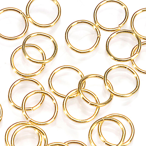 Split Ring - Gold - 9 mm - 10 pieces