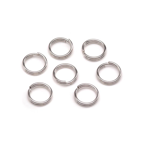 Darice® 6mm Jewelry Split Rings: Silver, 50 pieces