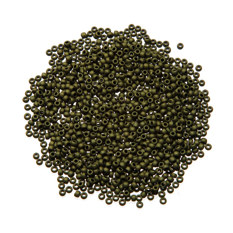 Toho® Japanese Glass Seed Beads - Matte Olive Drab - 11/0 2.2mm