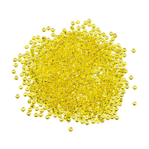 Toho® Japanese Glass Seed Beads - Silver-Lined Yellow - 11/0 2.2mm