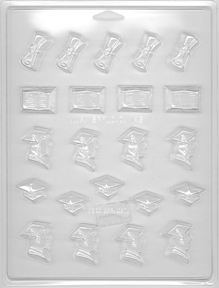 Assorted Graduate Candy Mold - Plastic