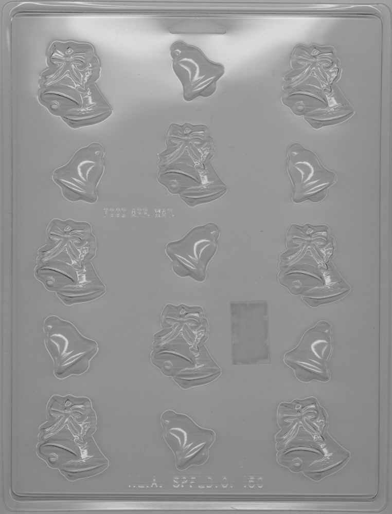 Assorted Christmas Bells Candy Mold - Plastic