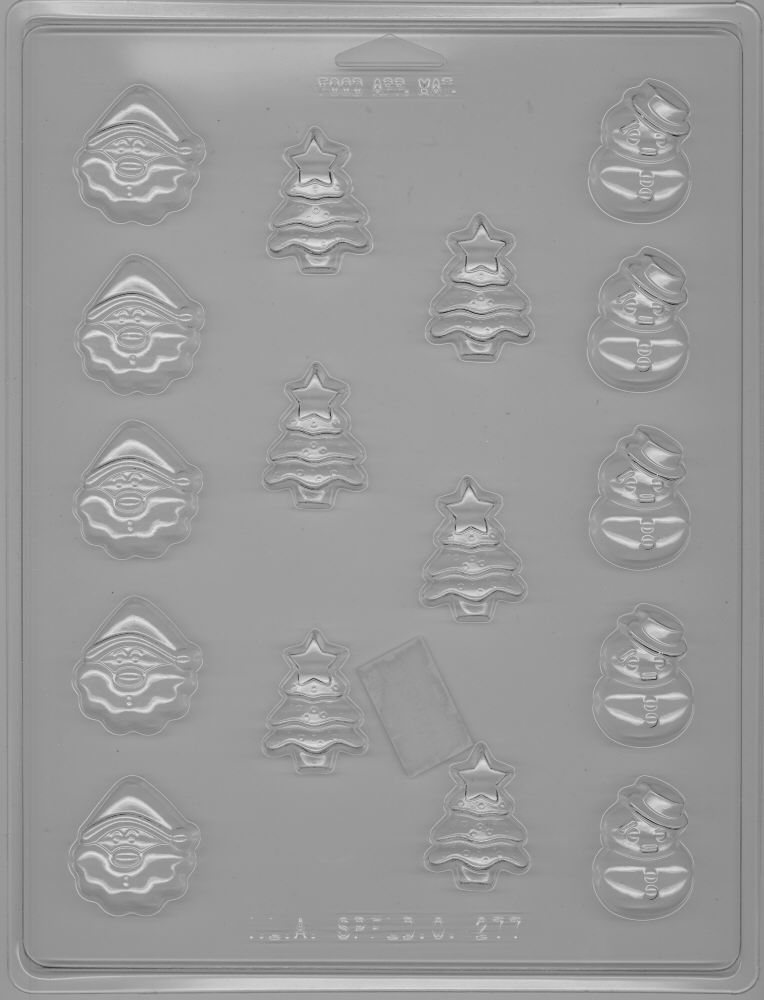 Bite-size Holiday Trio Candy Mold - Plastic