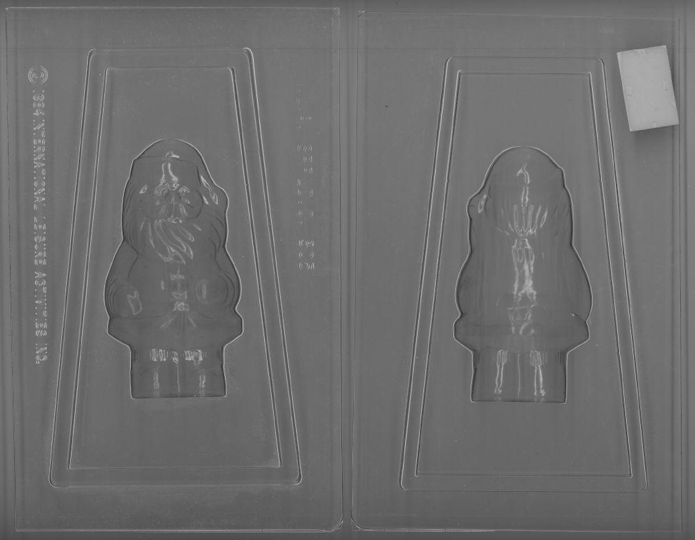 2-Piece Standing Santa - Candy Mold - Plastic