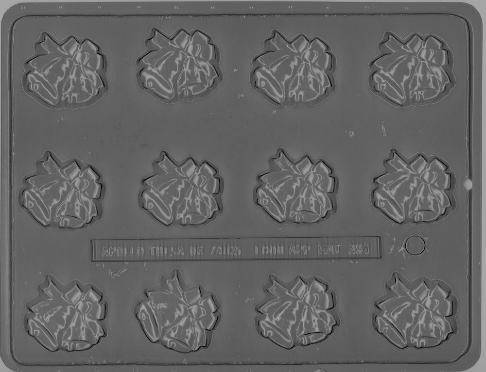 Bite-size Bells with Ribbon - Candy Mold - Plastic