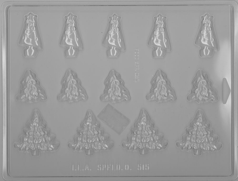 Assorted Tree Candy Mold - Plastic
