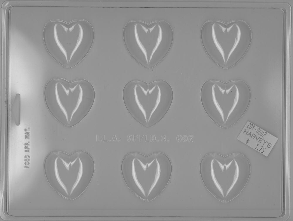 Medium Heart - Candy Mold - Plastic