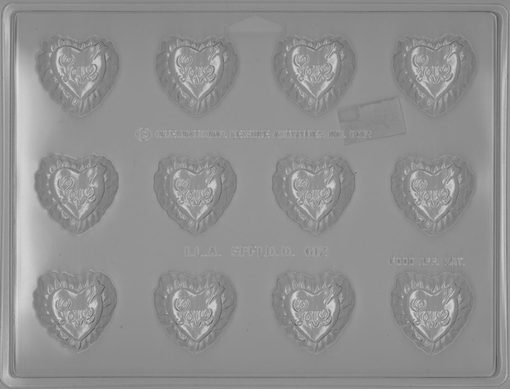 Bite Size Love Heart - Candy Mold - Plastic