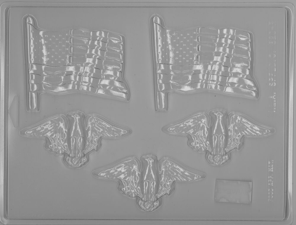 Patriotic Combo Candy Mold - Plastic
