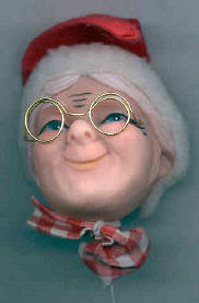 2.5 in. - Vintage -  Mrs. Santa pick with hat