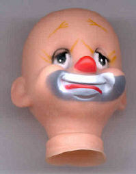 2- inch - Vintage Clown Head