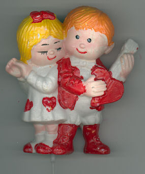 Boy and Girl Valentine Floral Pick