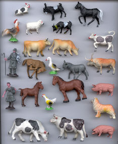Farm Animals - 1 inch to 2 inch - 23 pieces