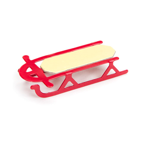 Timeless Minis™ - Toy Sled - Red - Wood/Metal - .625 x 1.875 inches