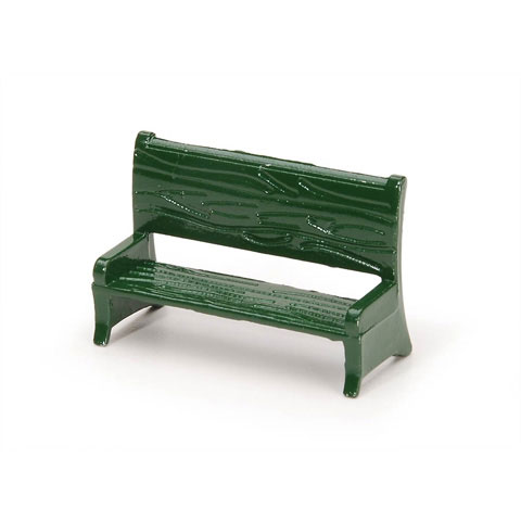 Timeless Minis™ - Bench - Green - 1.625 x 1.0625 inches