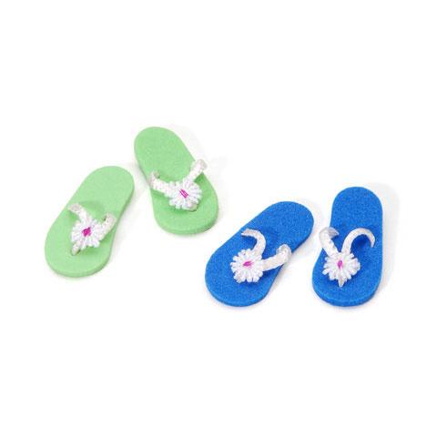 Miniature - Flip Flops - 1 inch - 2 pieces