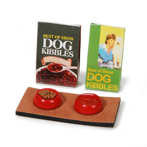 Miniature - Dog Food Station - 2.25 inches - 4 pieces