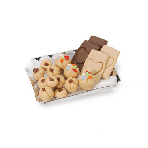 Miniature - Cookie Tray with Cookies - 1-3/8 inches