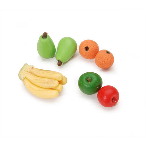 Miniature - Assorted Fruit - 0.5 inch - 7 pieces