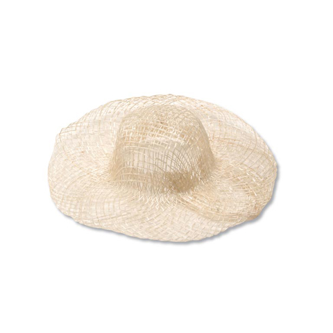 Woven Sinamay Hat - Natural - 4 inches
