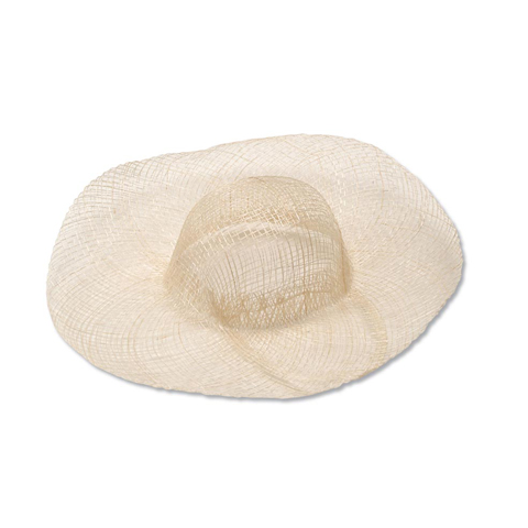 Woven Sinamay Hat - Natural - 8 inches