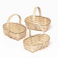 Bamboo Baskets - 2-1/4 x 1-1/4in.