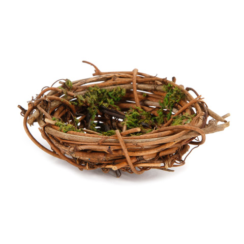Darice® Decorative Mini Birds Nest - Grapevine with Moss - 2.75 x 1 inch