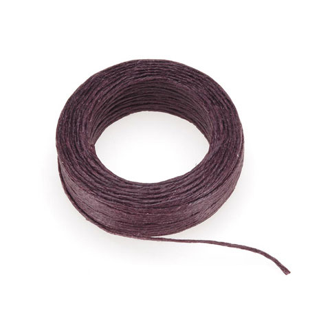 Waxed Linen Cord - Brown - 50 yards