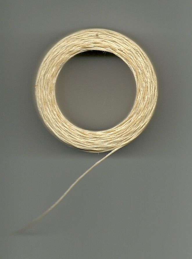 Waxed Linen Cord - Natural - 50 yards