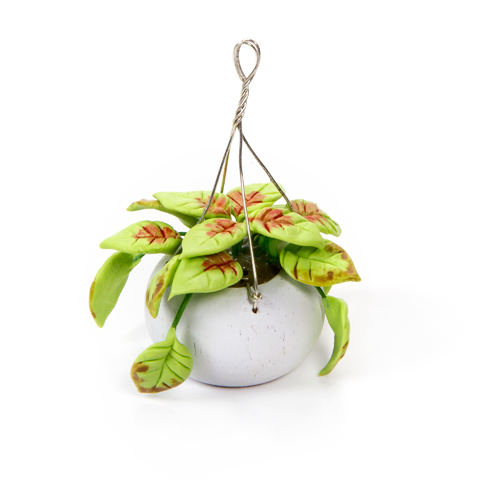 Timeless Minis™ - Handmade Hanging Greenery Basket - 1.5 x 2 inches