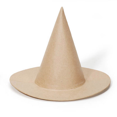 Paper Mache Witch Hat - 9 inches