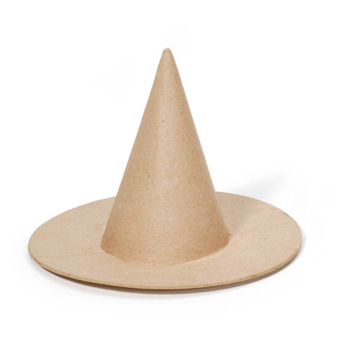 Darice® Small Paper Mache Witch Hat for Crafts - 7 x 6 inches