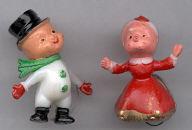 1-3/4 in. Mrs. Santa & Snowman