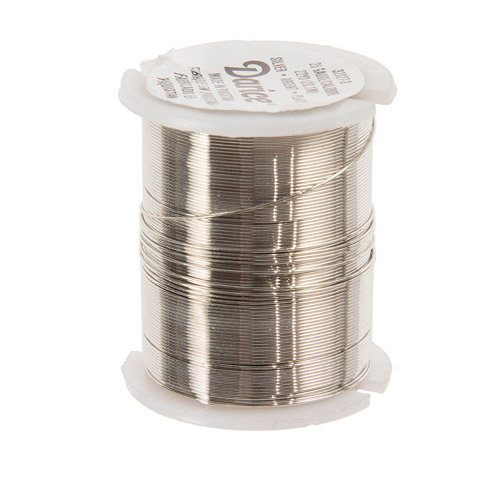 Beading Wire - 26 Gauge - Silver - 22 yards