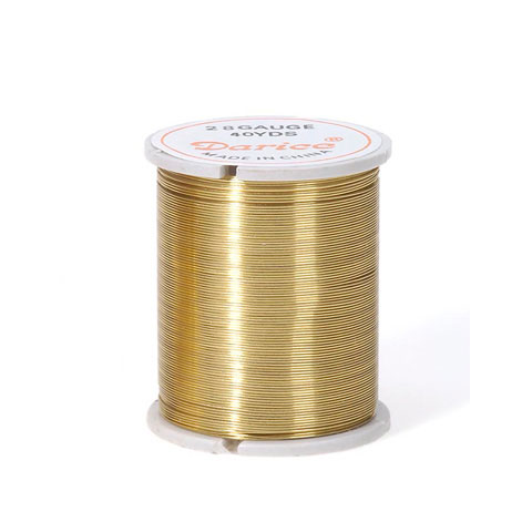 Beading Wire - 28 Gauge - Gold - 17 yards