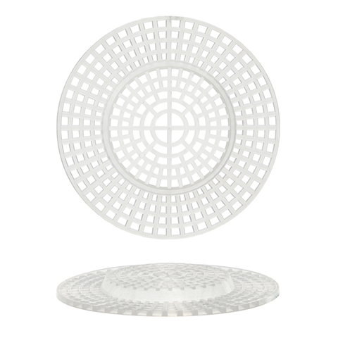 Plastic Canvas Shape - Round with Raised Center - 3 inches - 10 pieces