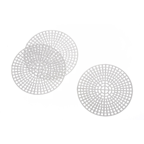 Plastic Canvas Shape - Round - Clear - 3 inches - 10 pieces