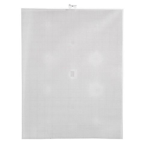 #10 Mesh Plastic Canvas - White Rectangle - 10-1/2 x 13-1/2