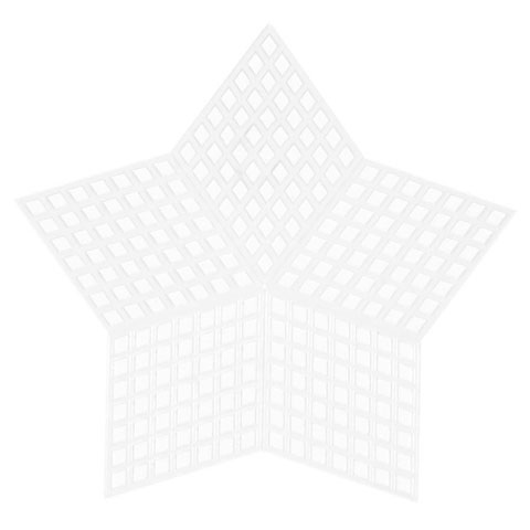 Plastic Canvas Shape - Star - 3-1/4 inches - 10 pieces