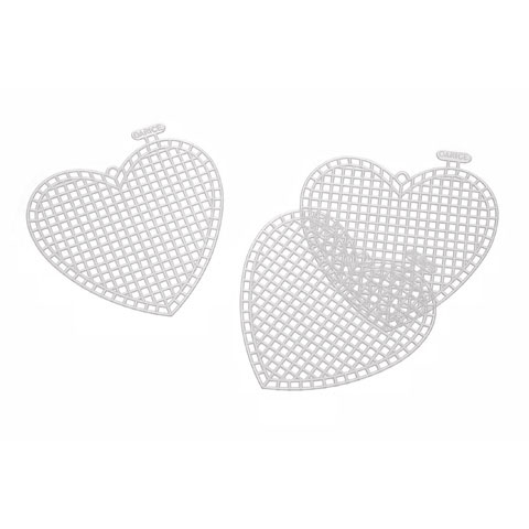 Plastic Canvas Shape - Heart - 3 inches - 10 pieces
