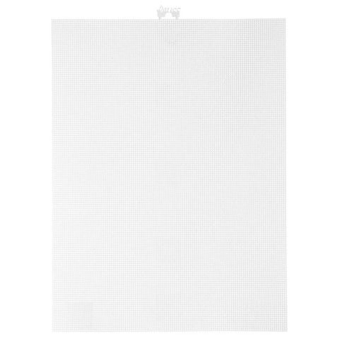 #14 Mesh Plastic Canvas - White - 11 x 8-1/2