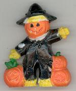 Pumpkin Scarecrow - 1-3/4 inch - plastic - 1 piece