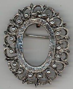 Pin Frame - Antique Silver