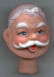 3-1/2 inch - Vintage - Santa Head