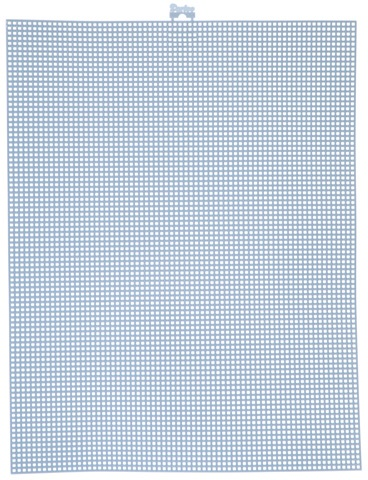 #7 Mesh Plastic Canvas - Delft Blue - 10.5 x 13.5