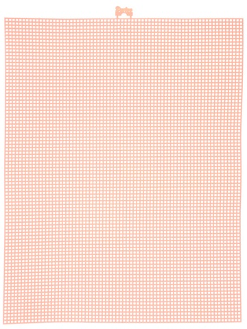 #7 Mesh Plastic Canvas - Peach - 10.5 x 13.5