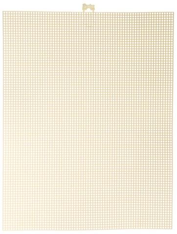 #7 Mesh Plastic Canvas - Ivory - 10.5 x 13.5