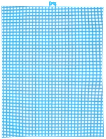#7 Mesh Plastic Canvas - Neon Blue - 10.5 x 13.5